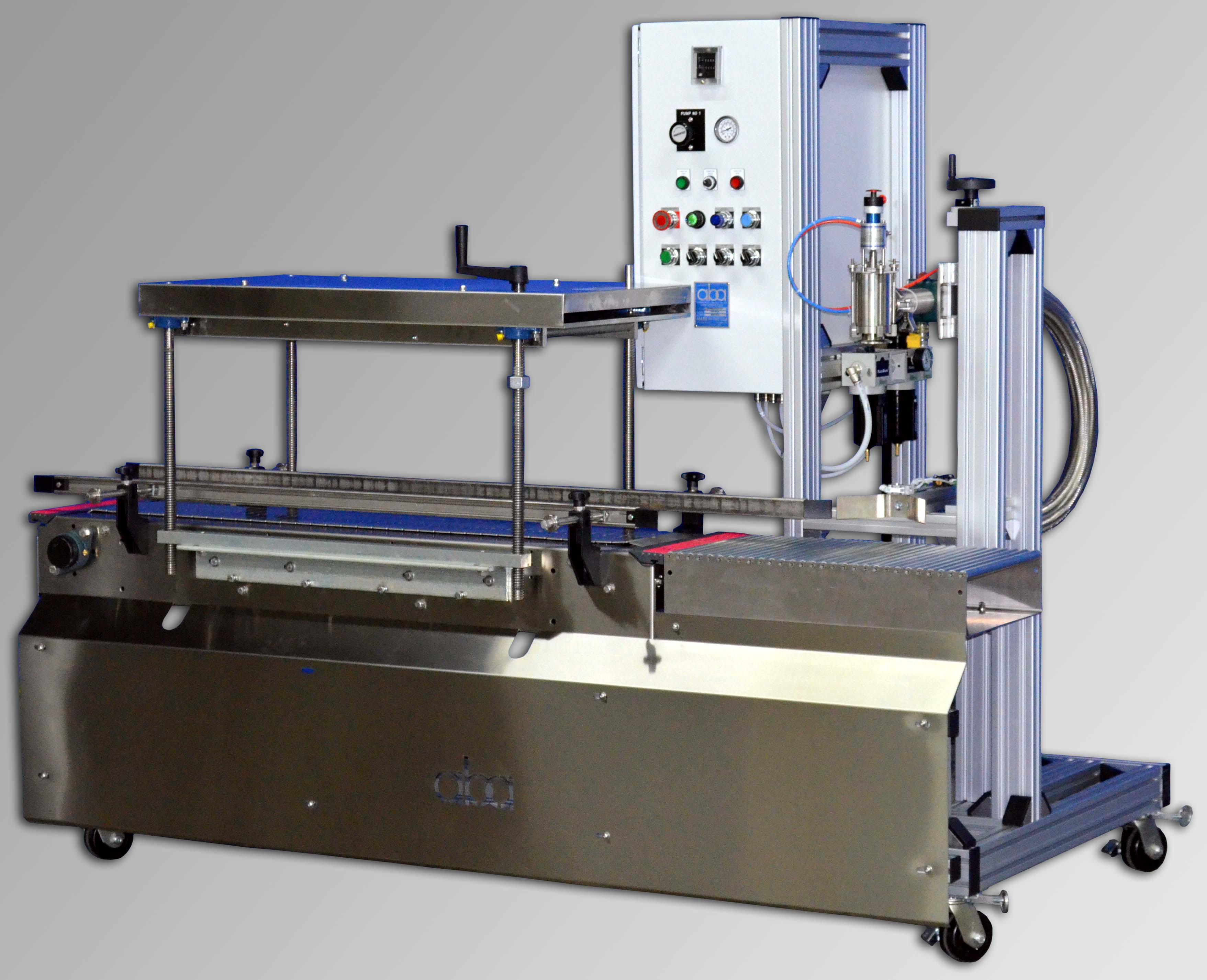 ABA-M320 - top fill  pneumatic liquid filling machine