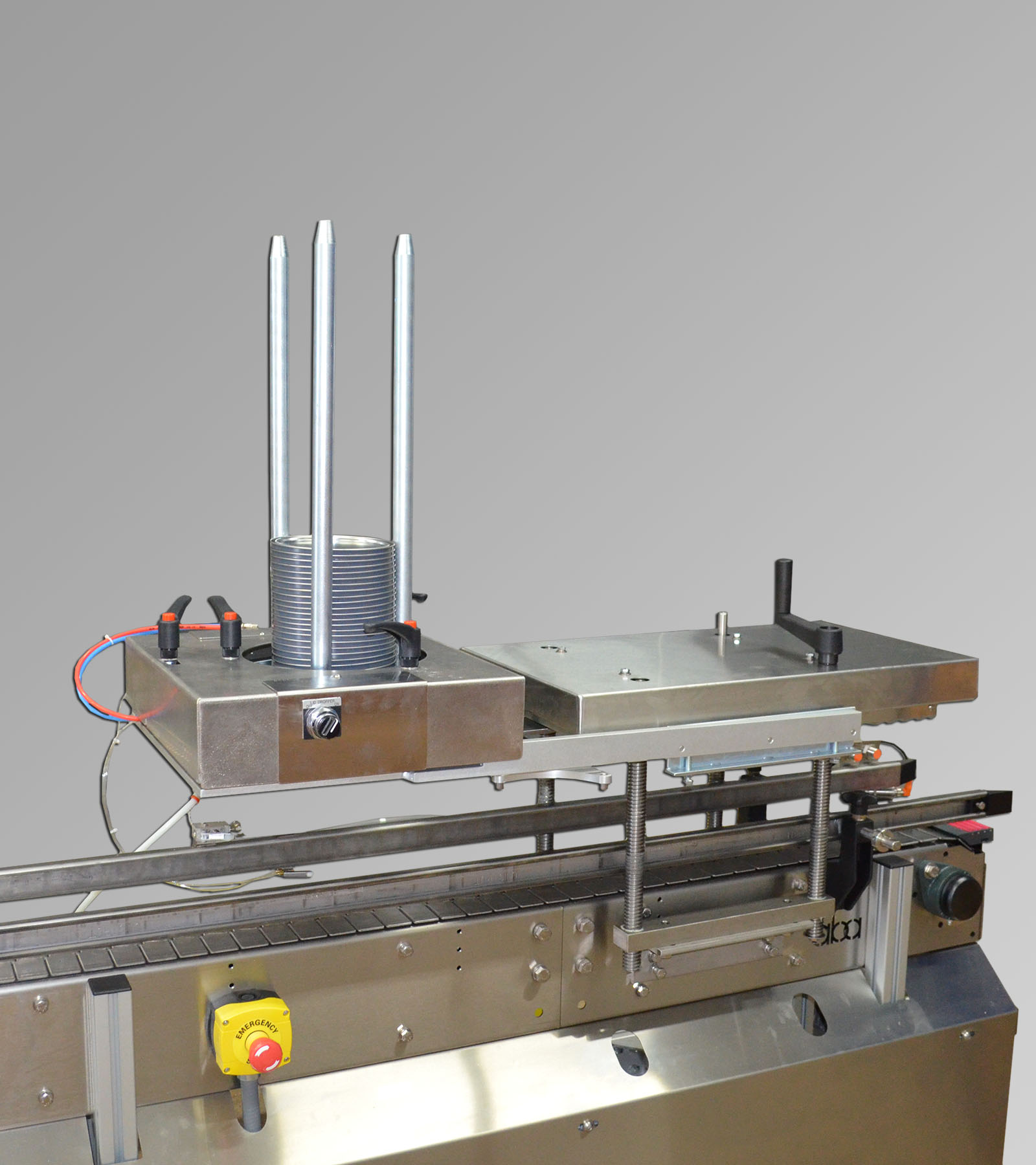 ABA-M377 - Lid Dropper and Roller Lid Press