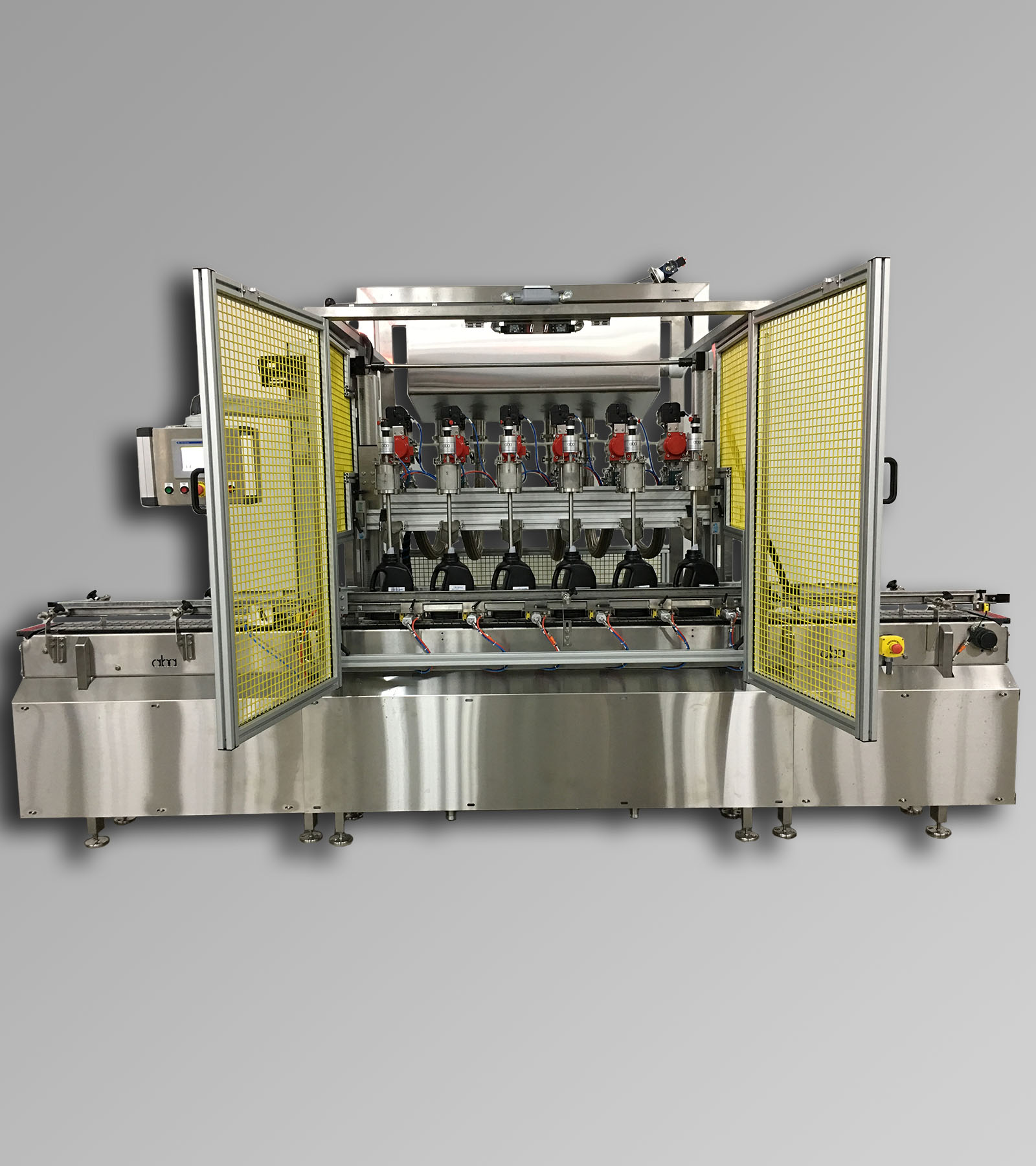 ABA-M394 - Top & Bottom Fill, Net Weight, 6 Head Filling Machine Shown Bottom Filling
