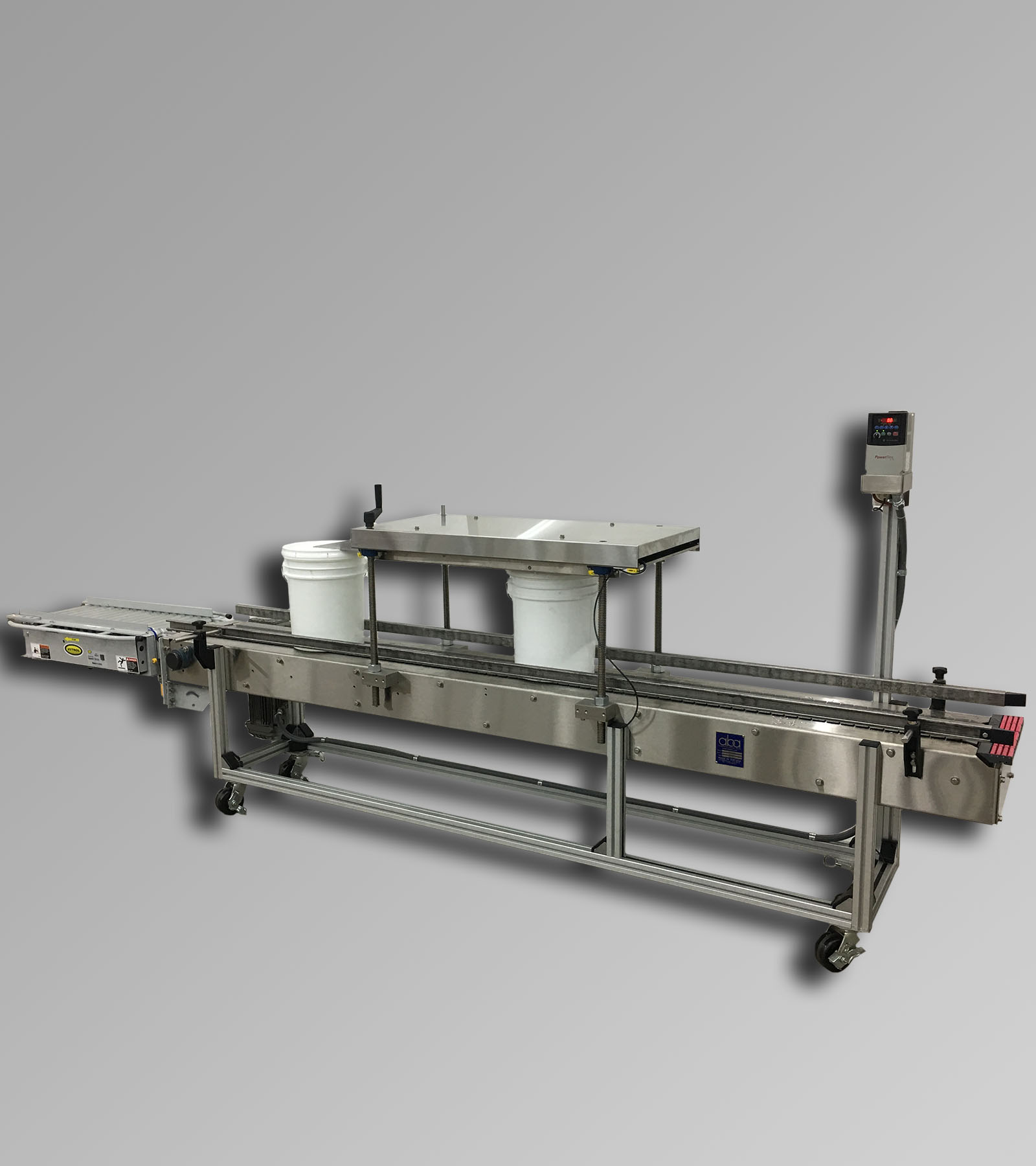 ABA-M434 - Conveyor and Roller Lid Press