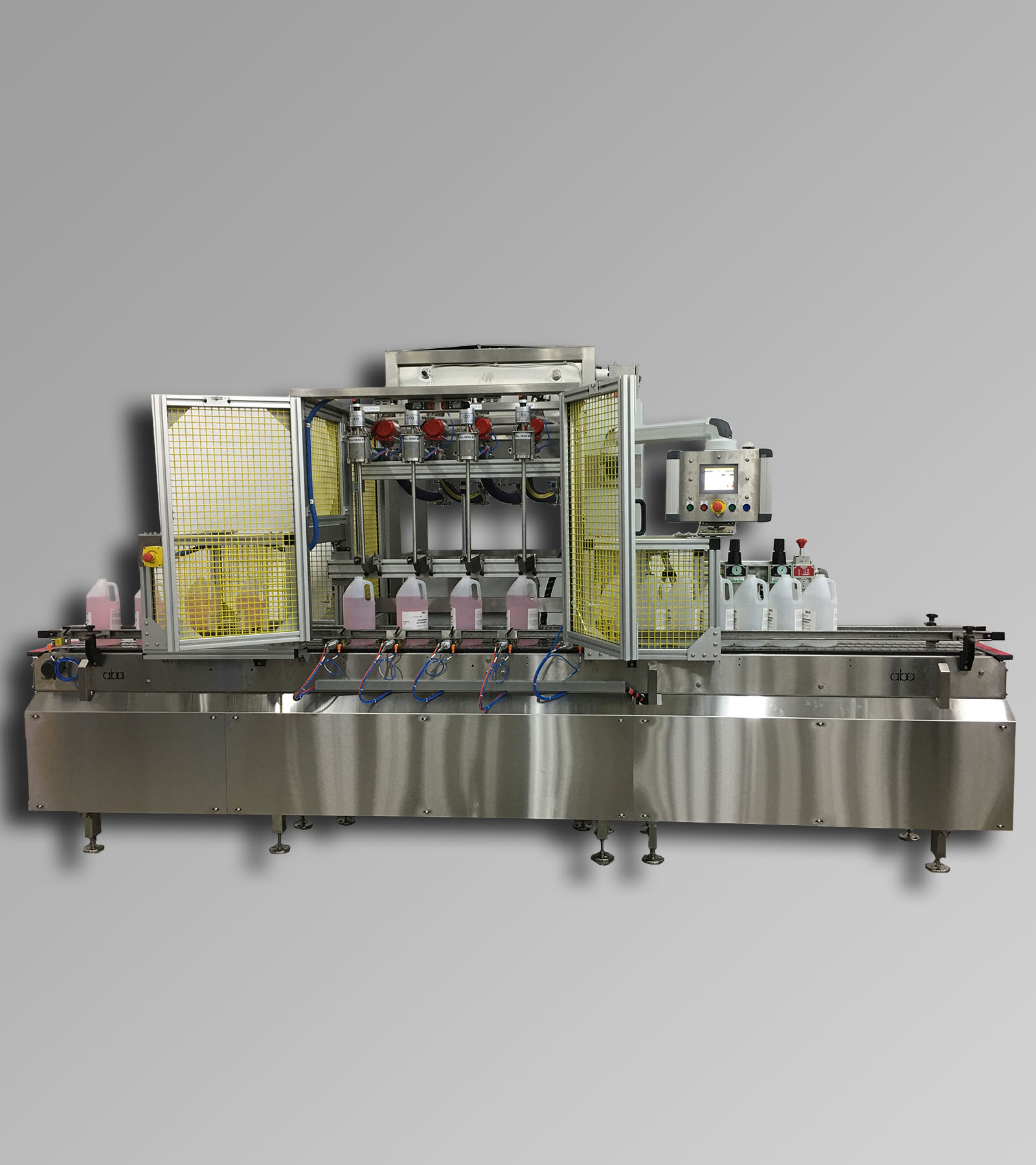 ABA-M449 - top and bottom fill, net weight paint filling machine for C1D1 area