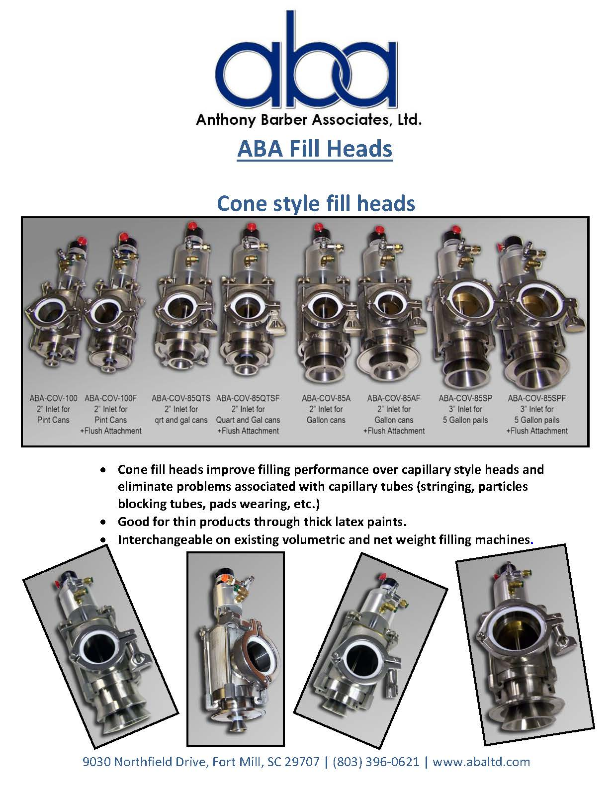 ABA Fill Heads - cone style