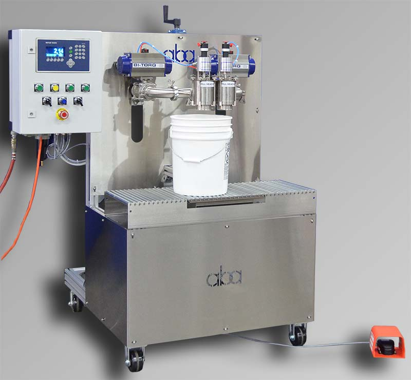 Semi-automatic net weight paint and liquid filling machine