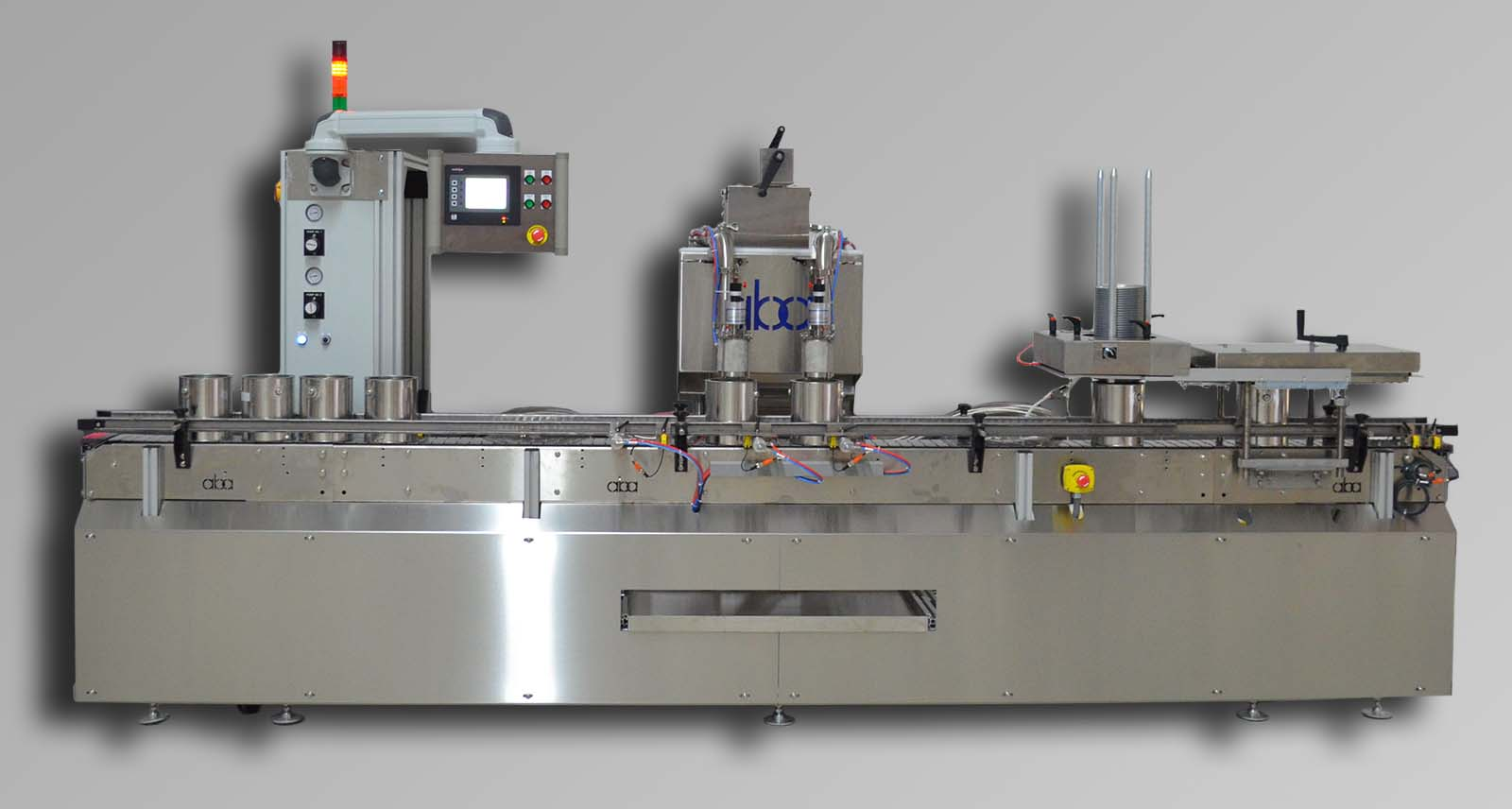 M340 2 head, volumetric filling machine