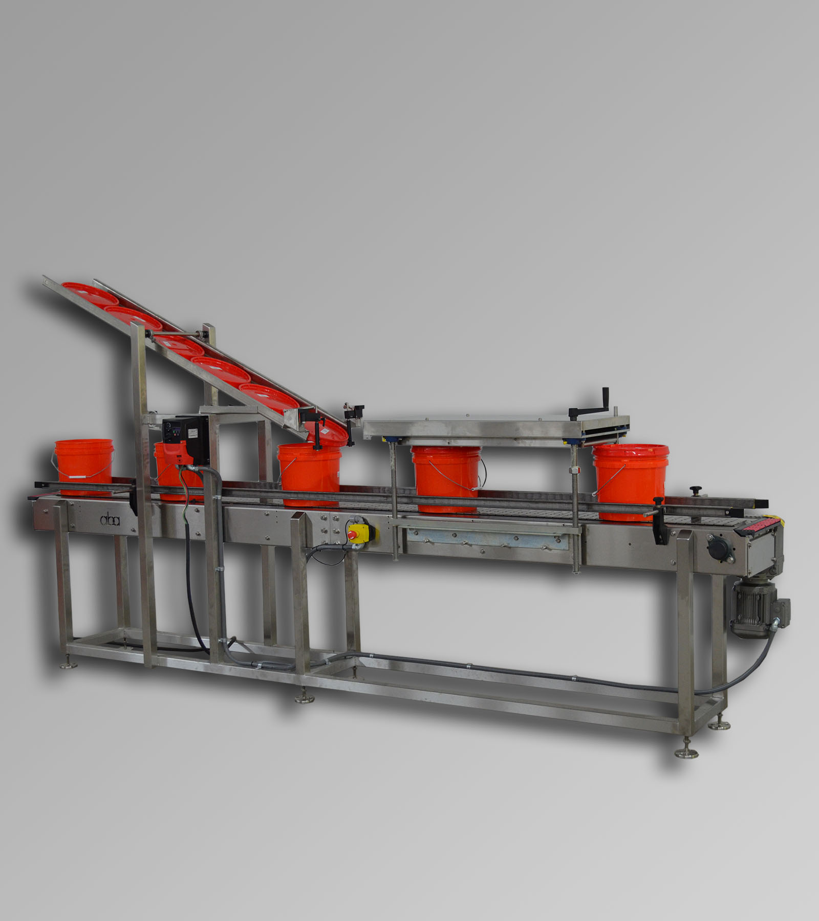 ABA-M369 Conveyor, press, lid chute