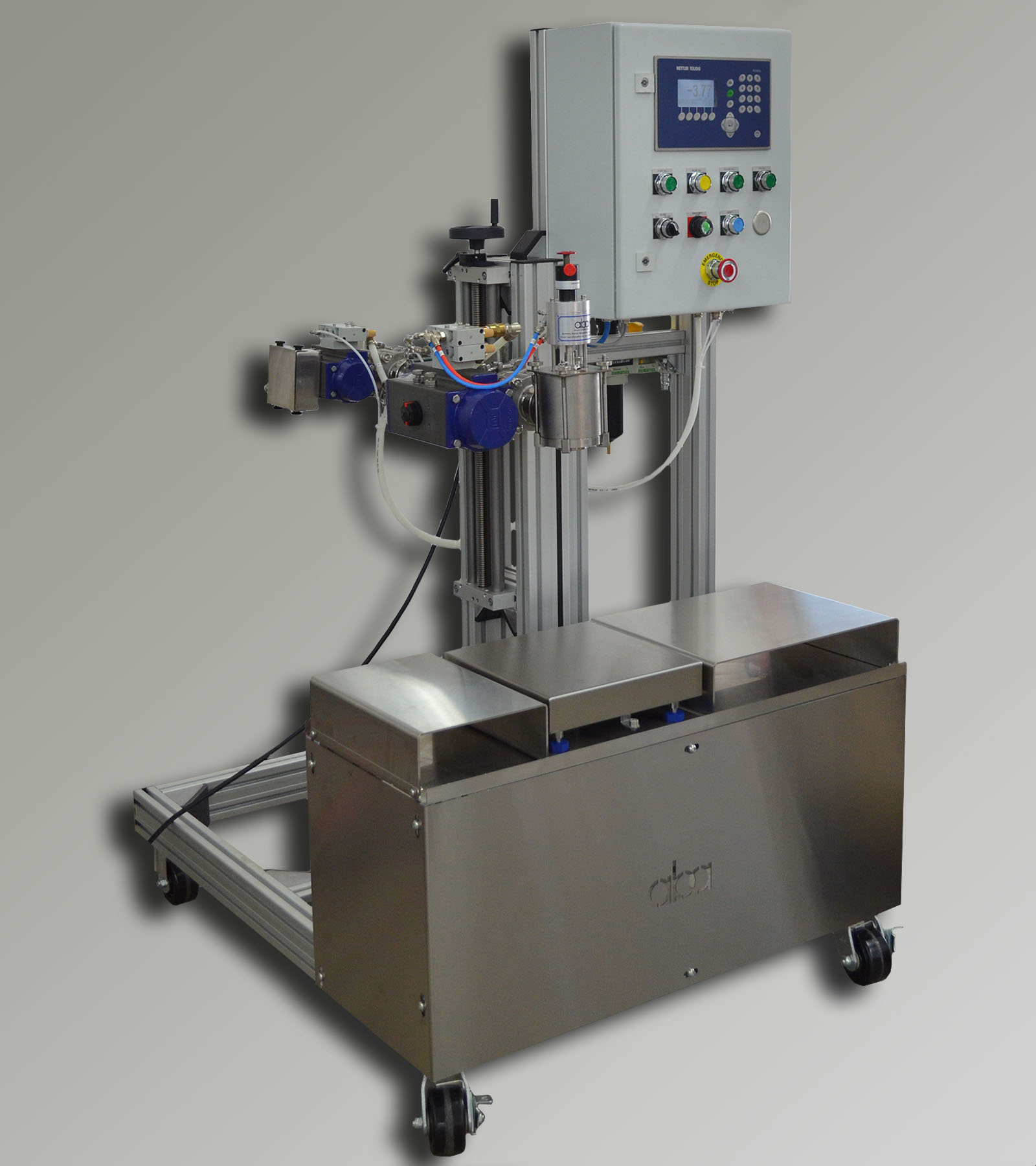ABA-M371 - semi-automatic, net weight filling machine
