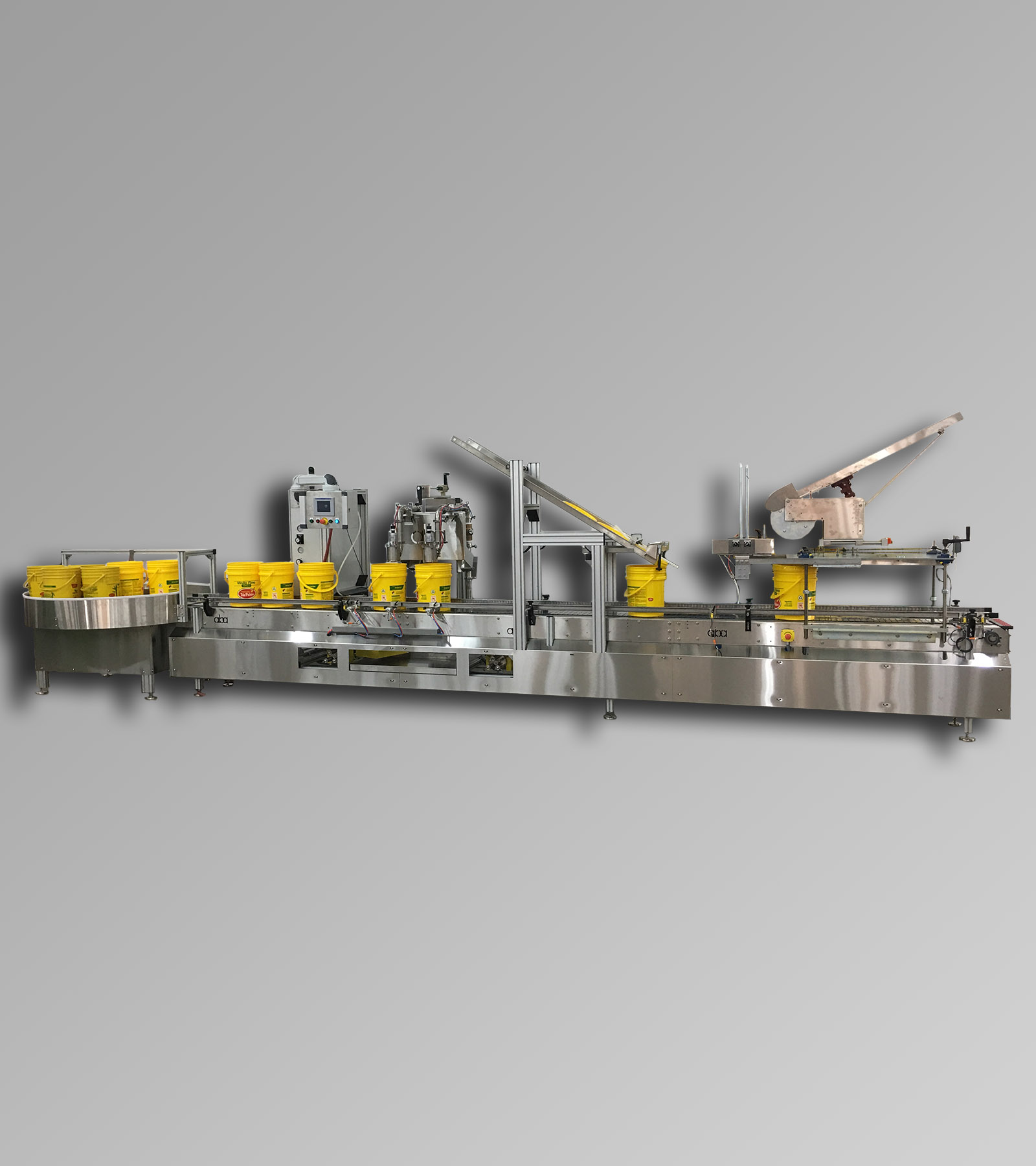 ABA-M411 - Dual Head, Swing Frame, Volumetric Filling Machine