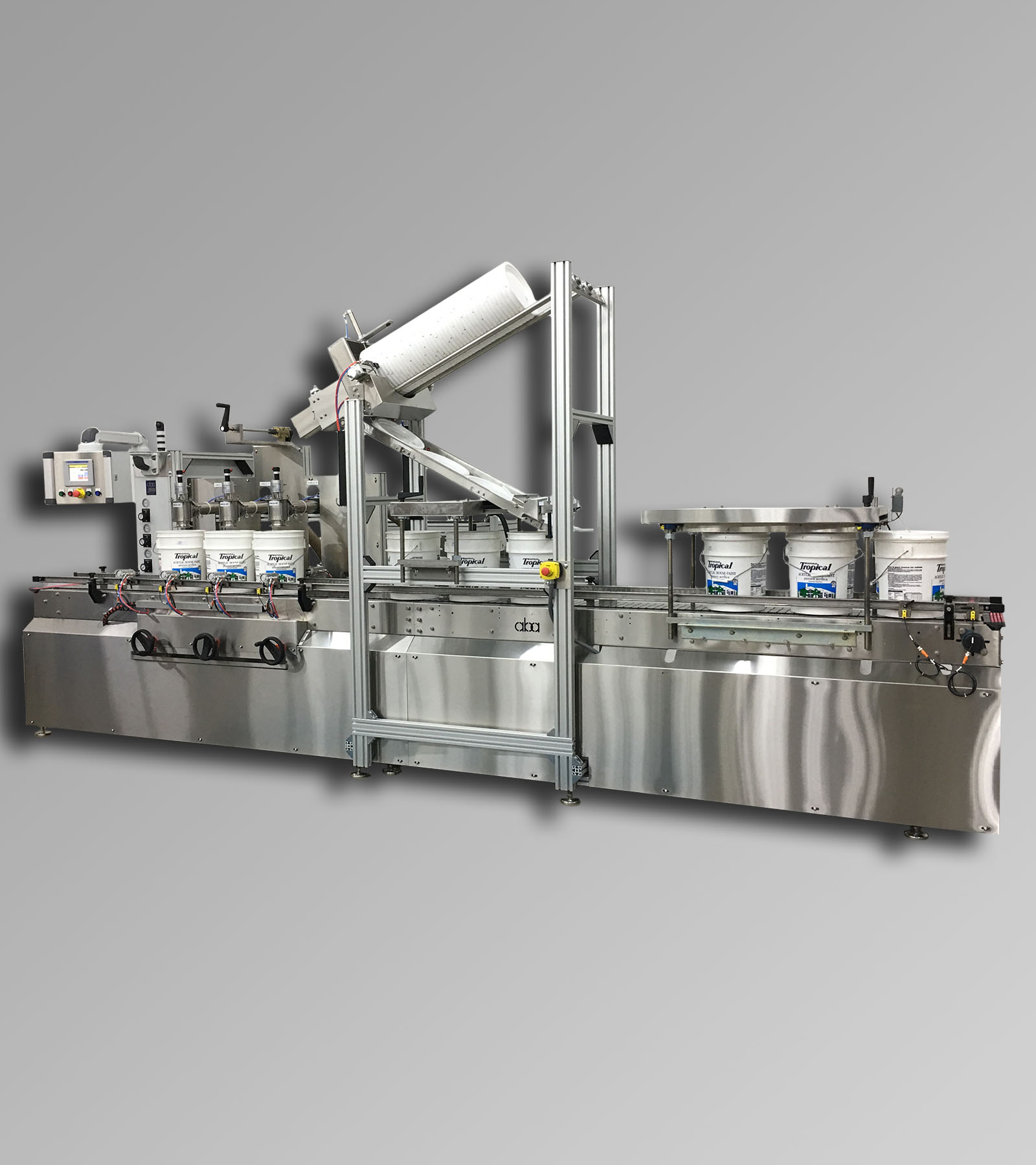 ABA-M442 - Top Fill, Volumetric Paint Filling Machine