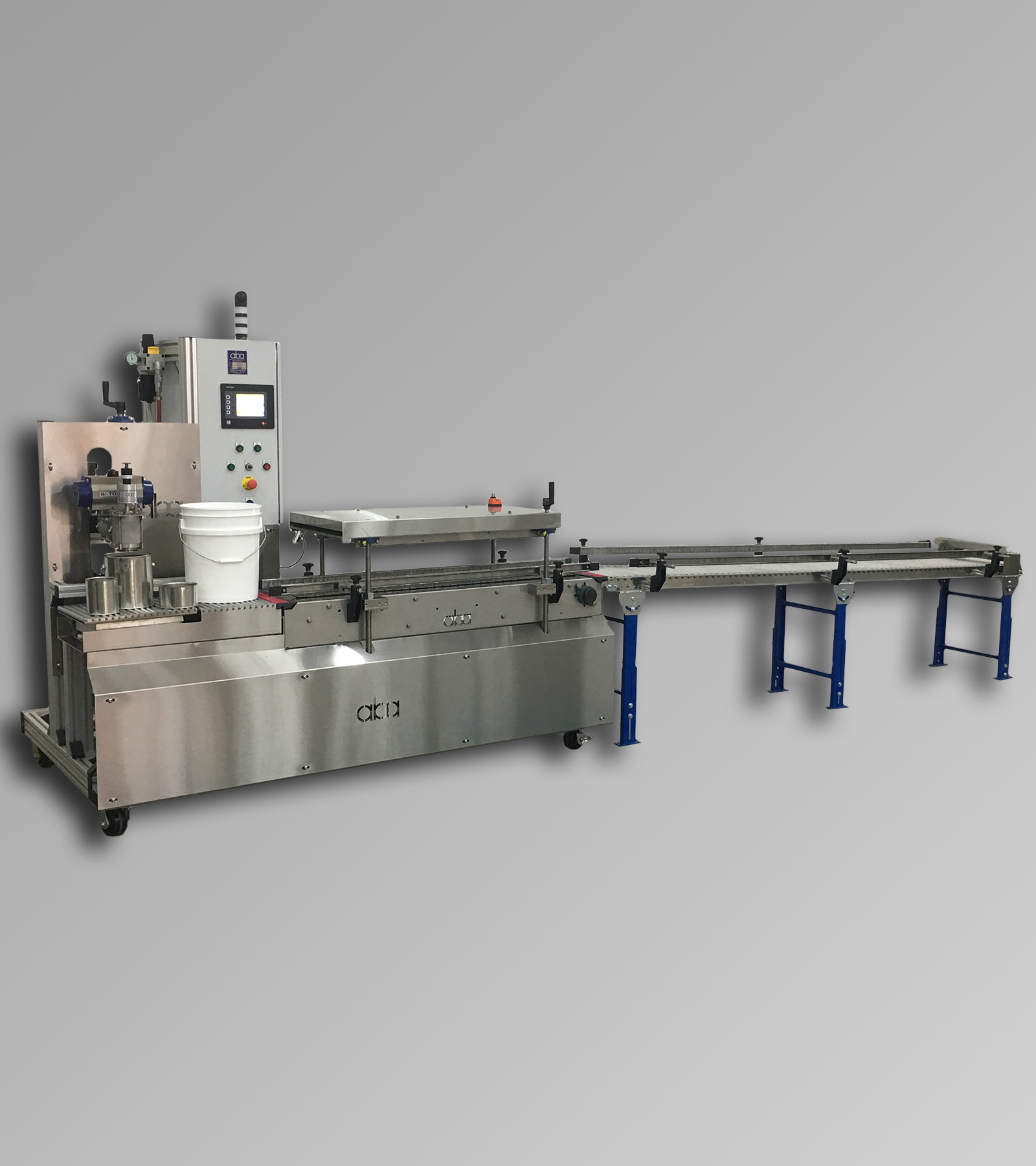 ABA-M462 - Semi-Automatic, Net Weight, Paint Filling Machine with Press