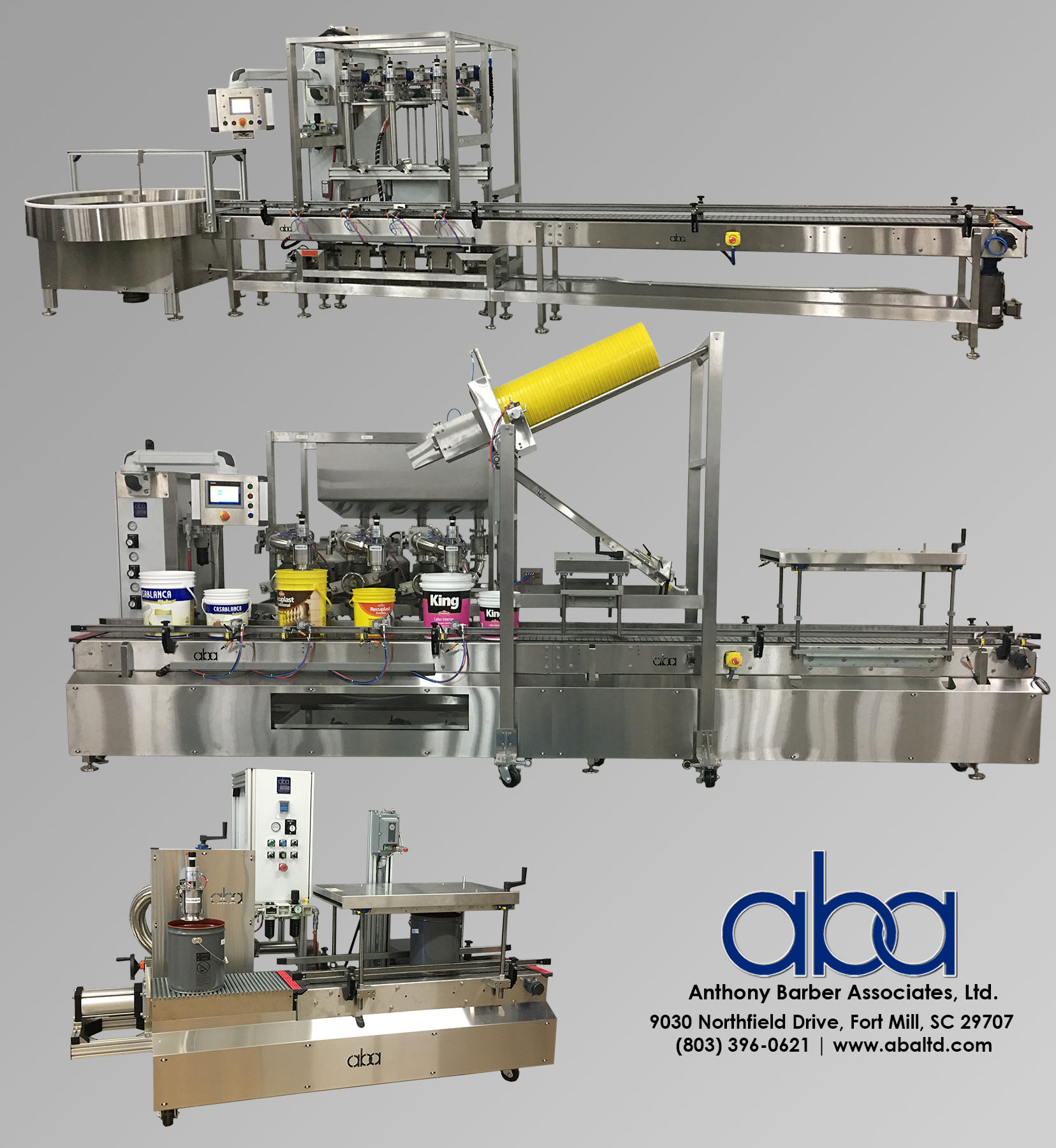 Compilation of ABA Liquid and Paint Filling Machines