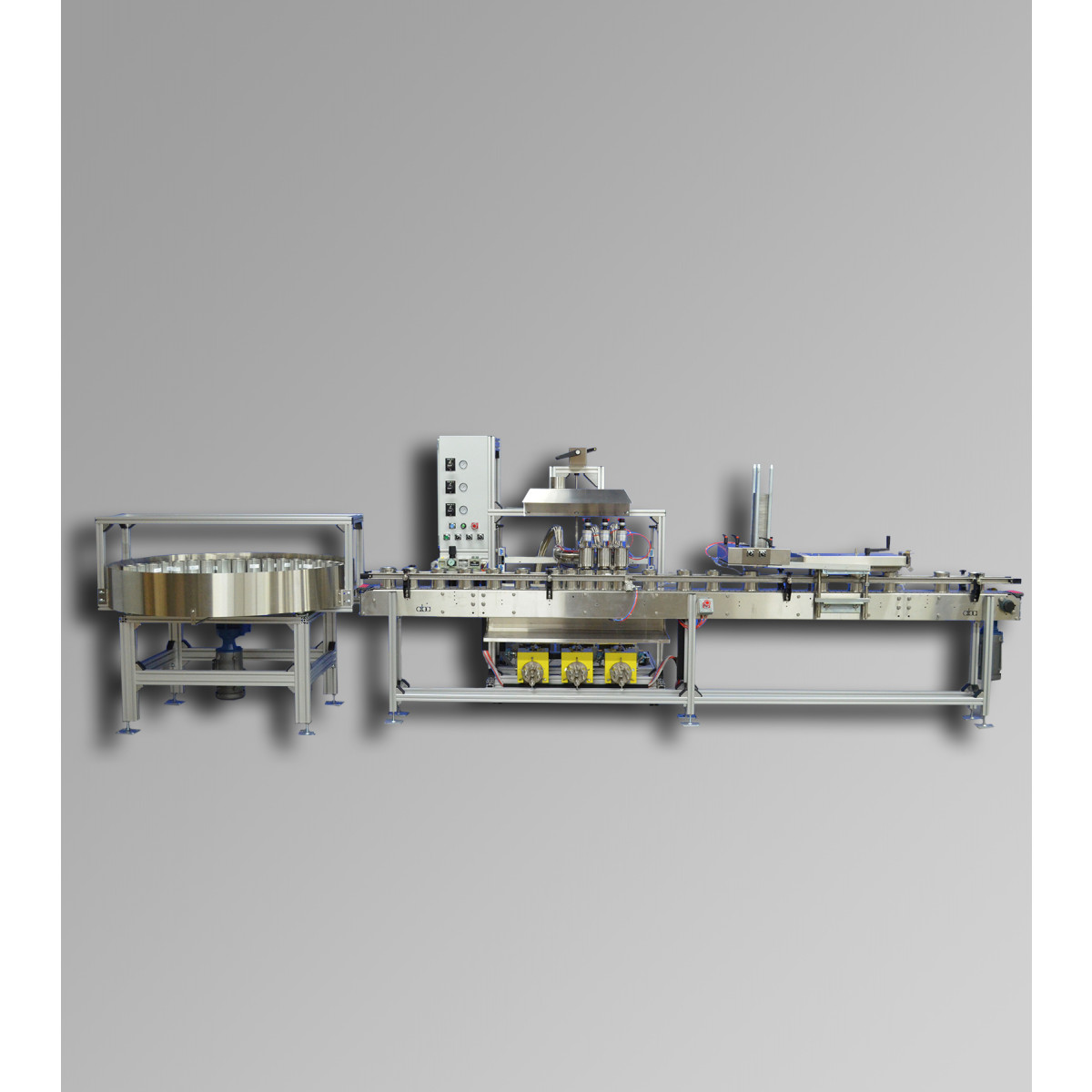 ABA-M322 - automatic, 3 head, pneumatic C1D1 filling machine