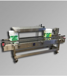 PRESS-5NAR-WD - ABA-M399 - pail closing machine, stainless steel, washdown, for use in a salt processing plant