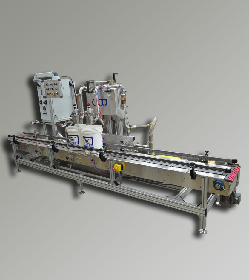 ABA-M376 - 2 Head, Pneumatic, Volumetric Liquid Filling Machine