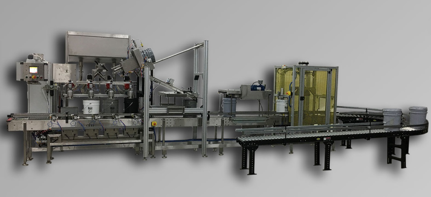 ABA-M396 - Top Fill, Net Weight Pail Filling Equipment
